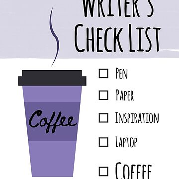 Writer's Check List by JDJDesign