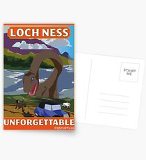 Visit Loch Ness - Orange Postcards