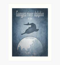 Ganges river dolphin - endangered animals Art Print