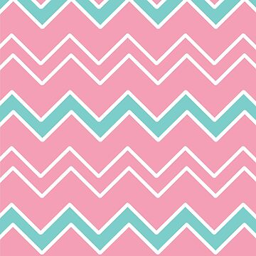 Pink, White and Teal Geometric Patter by PerfectDisguise