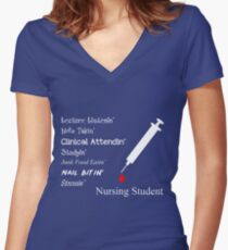 Nursing Student Funny Sayings Women's Fitted V-Neck T-Shirt