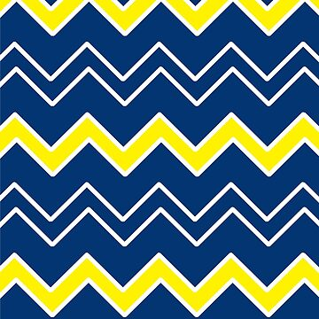 Blue with White and Yellow Geometric Pattern by PerfectDisguise