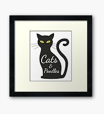 Cats and Poodles tshirt for women Framed Print