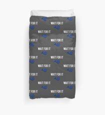 Wait For It - Blue French Horn Duvet Cover