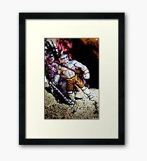 Half Orc Monk Framed Print