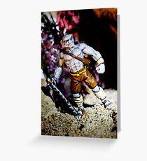 Half Orc Monk Greeting Card