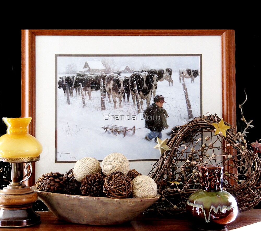Winter Scene .... at my Ladies' Desk by Brenda Dow