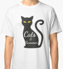 Cats and Summer tshirt for women Classic T-Shirt