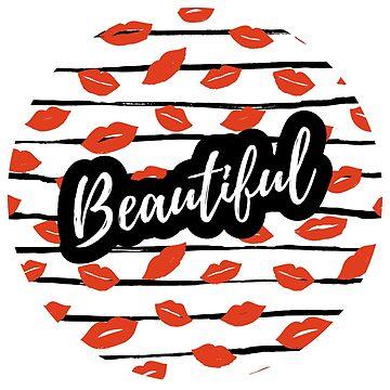 Hermosa cita y estampado con labios. de natakuprova
