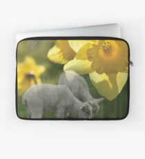 Spring! Lambs and Daffs Laptop Sleeve