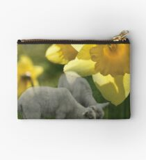 Spring! Lambs and Daffs Zipper Pouch