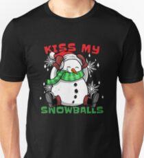 Kiss my snowballs Funny snowman Winter Christmas gift Unisex T-Shirt