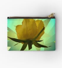 Glowing Rose Graphic Zipper Pouch