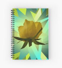 Glowing Rose Graphic Spiral Notebook
