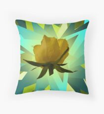 Glowing Rose Graphic Throw Pillow