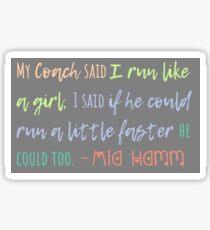 Mia Hamm Quotes Sticker