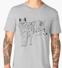 Two timber wolves Men's Premium T-Shirt