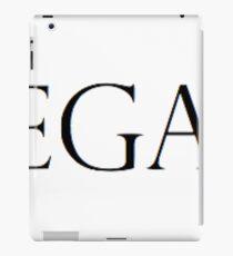 Vegan (Black and White) iPad Case/Skin