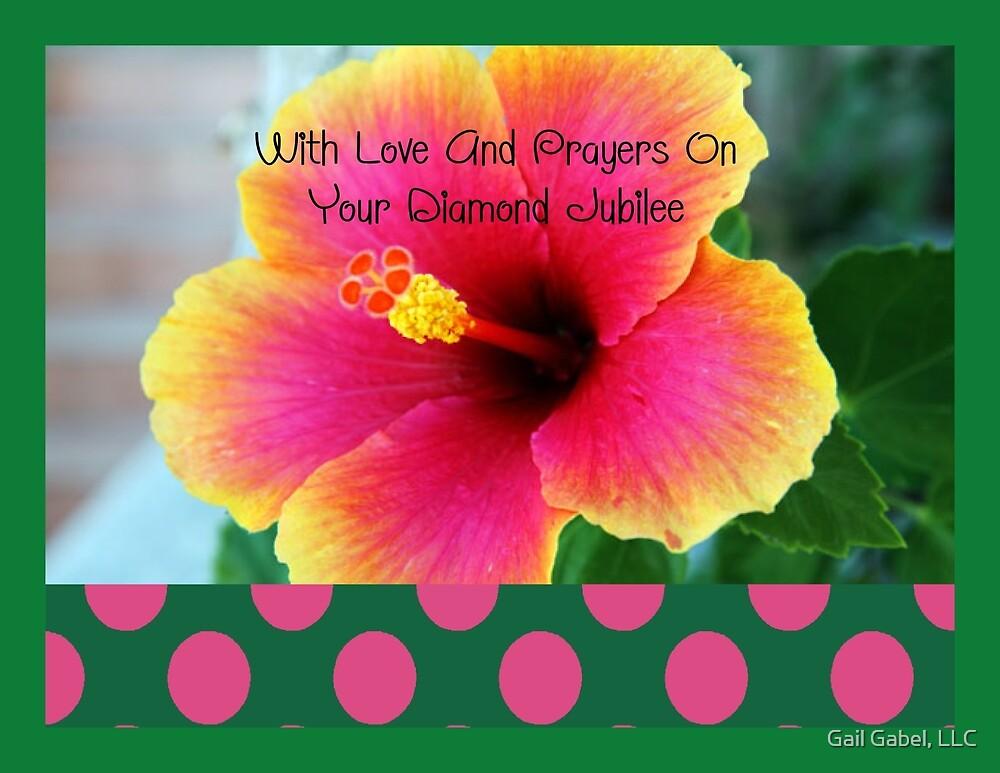 Nuns or Clergy Silver Jubilee Hibiscus Flower by Gail Gabel, LLC