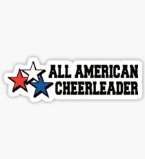 All American Cheerleader Sticker