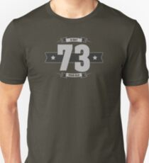 B-day 73 (Light&Darkgrey) Unisex T-Shirt