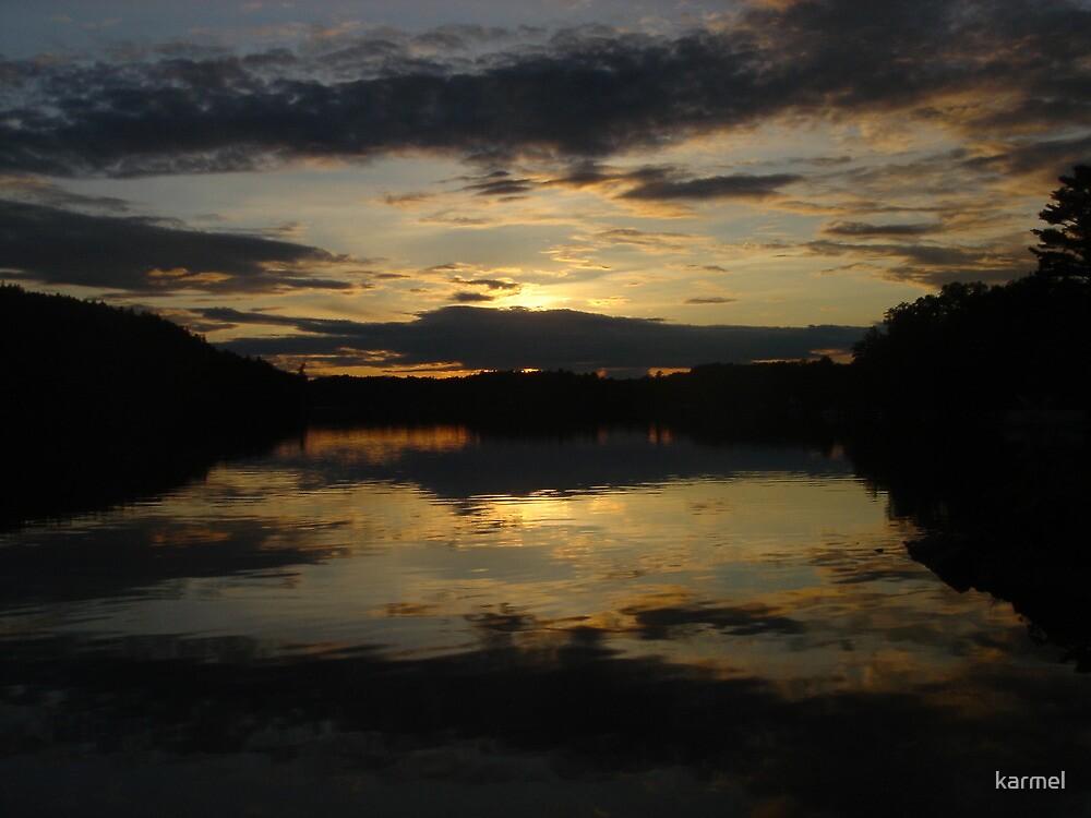 Lake Sunset by karmel
