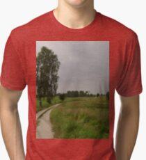 an unbelievable Poland landscape Tri-blend T-Shirt