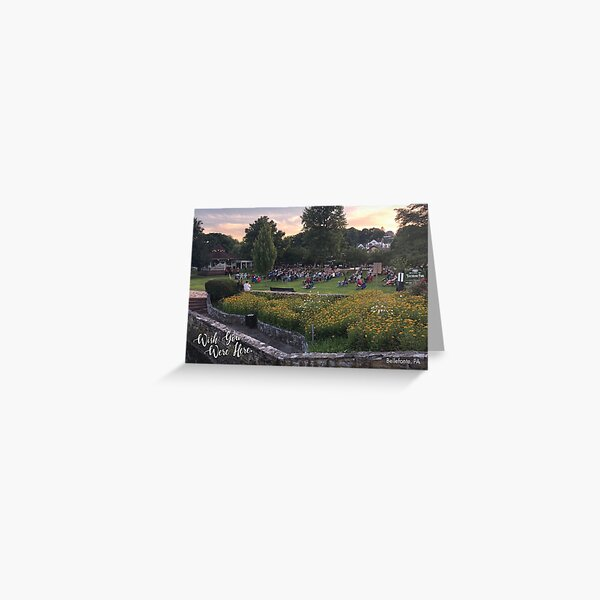 Summer Sounds in the Park - Card Greeting Card