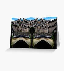 Bridge Over The River Fantasy Greeting Card