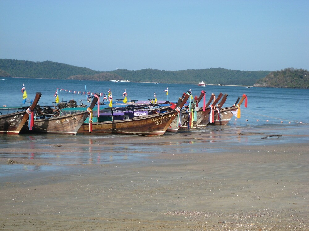 Boat Parking - Thailand by Ginelle Cooke