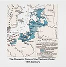 Map.. Monastic State of the Teutonic Order  by edsimoneit