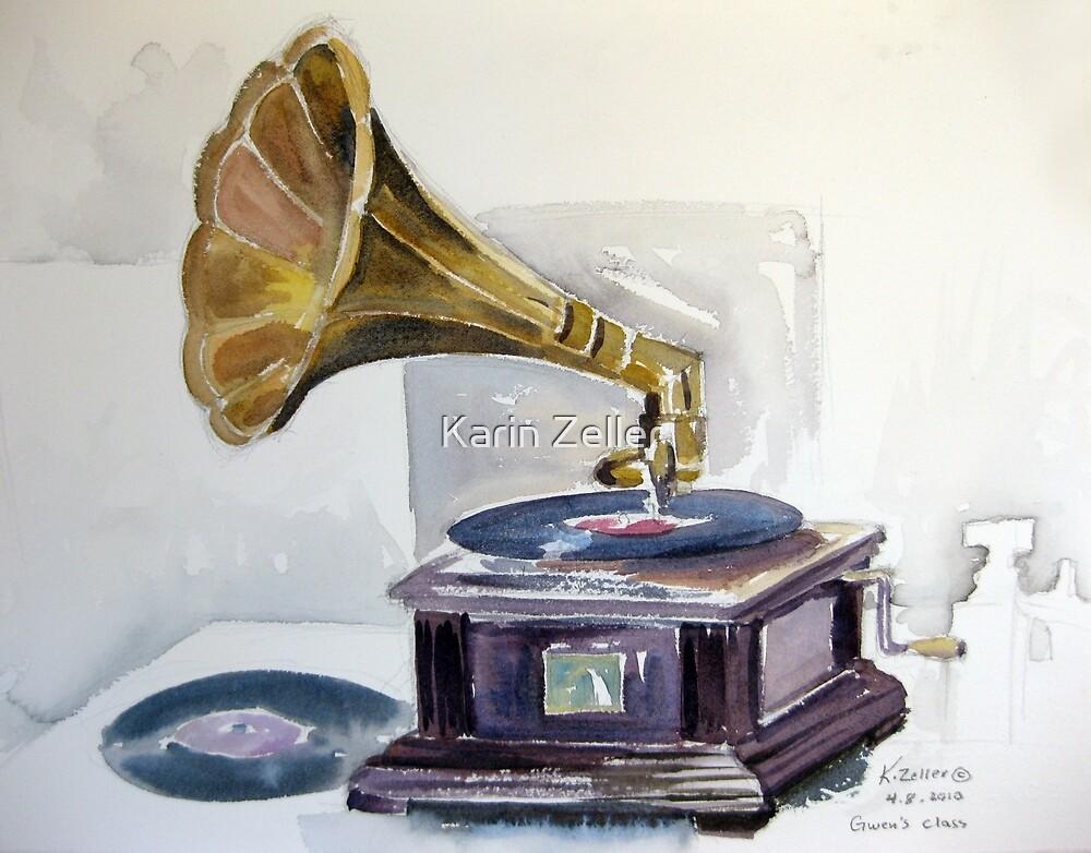Old Gramophone  by Karin Zeller
