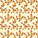 Scattered Autumn Leaves by SquibbleDesign