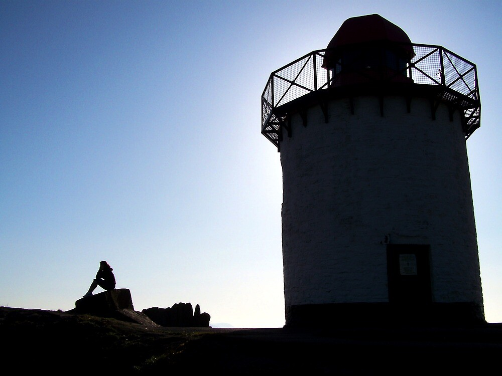 Burry Port Lighthouse- Silhouette by DeanRich22