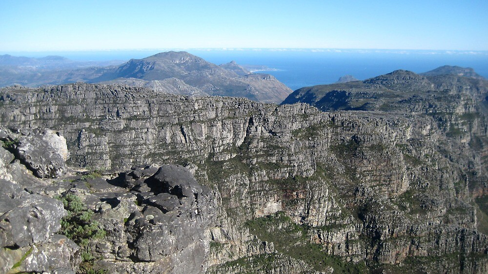 View from the Top - Table Mountain, South Africa by Ginelle Cooke