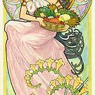 Art Nouveau Lady by Susan Fox