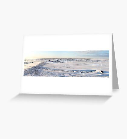 Early Morning on the Tundra, Churchill, Canada Greeting Card