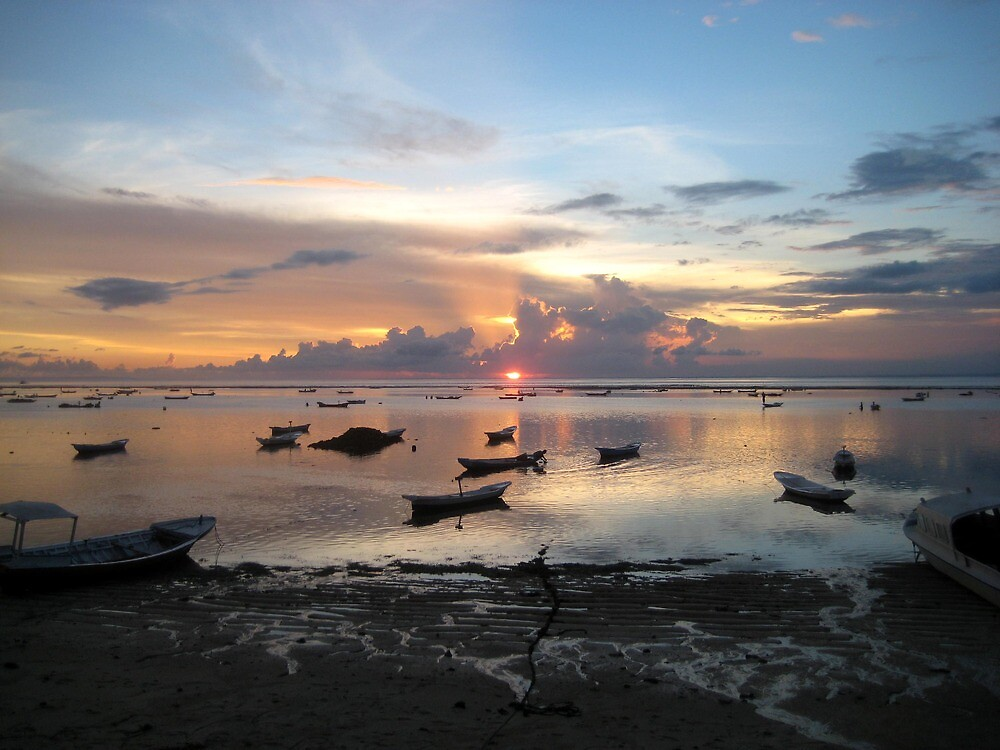 Balinese Sunset - Bali, Indo by Ginelle Cooke