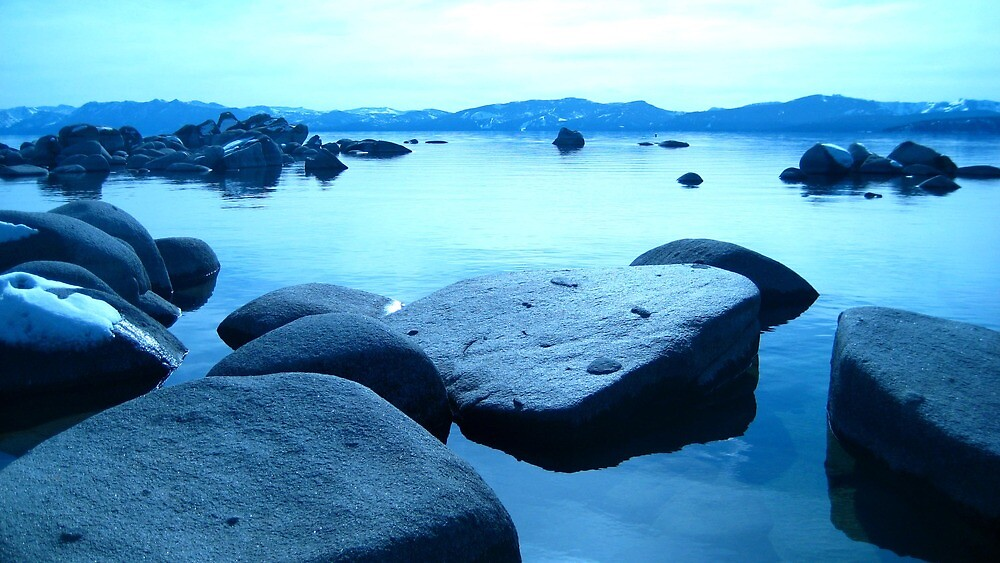 Blue Boulders - Bucks Beach, North Lake Tahoe by Ginelle Cooke