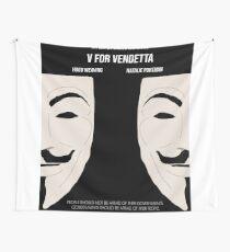 V for Vendetta Minimal Movie Poster Wall Tapestry