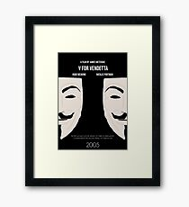 V for Vendetta Minimal Movie Poster Framed Print