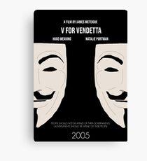 V for Vendetta Minimal Movie Poster Canvas Print