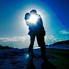 Picturesque Sunset Silhouette of couple by cawh