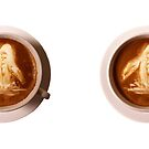 Coffee art - Breaching Whale in Espresso by Crowden