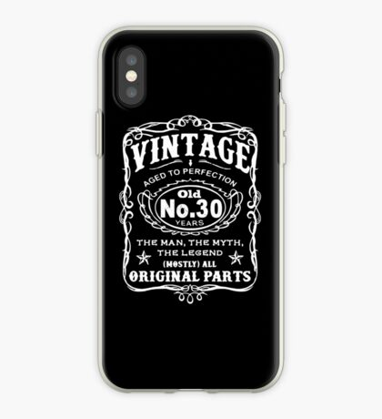 Vintage Aged To Perfection 30 Years Old iPhone Case