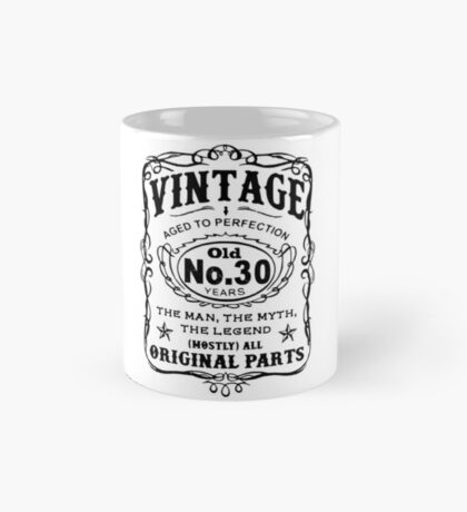 Vintage Aged To Perfection 30 Years Old Mug