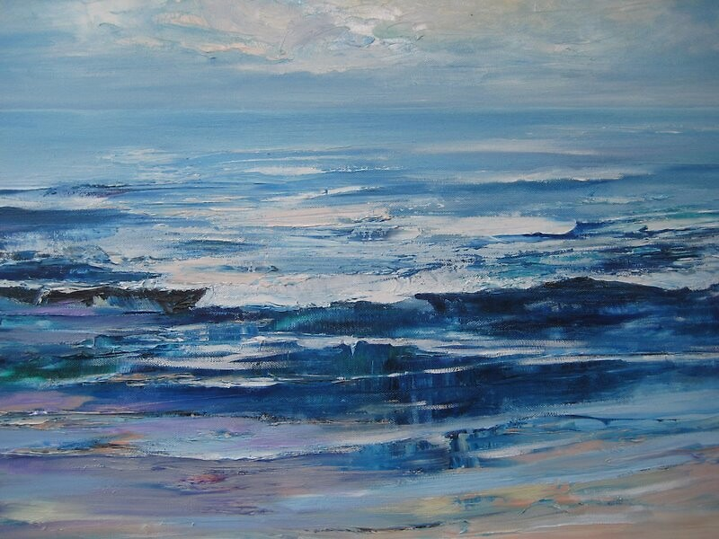 Low Tide. oil on canvas. by vronx