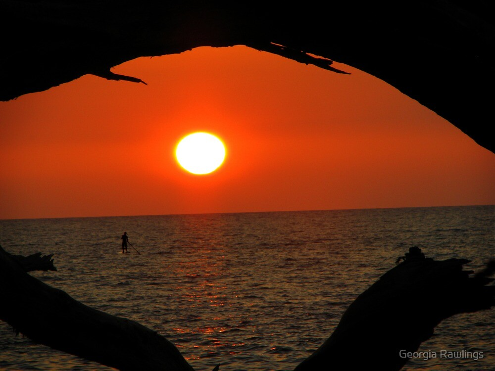 Puako Beach Sunset by Georgia Rawlings