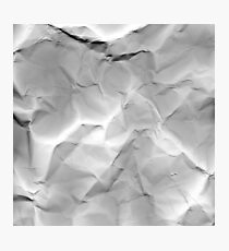 crumpled Photographic Print