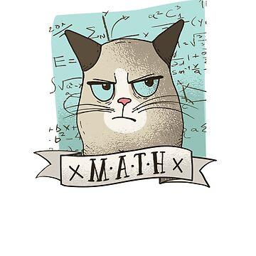 Kids Funny Math Cat - Sick Of Math Design - Student Hates Math by 6thave